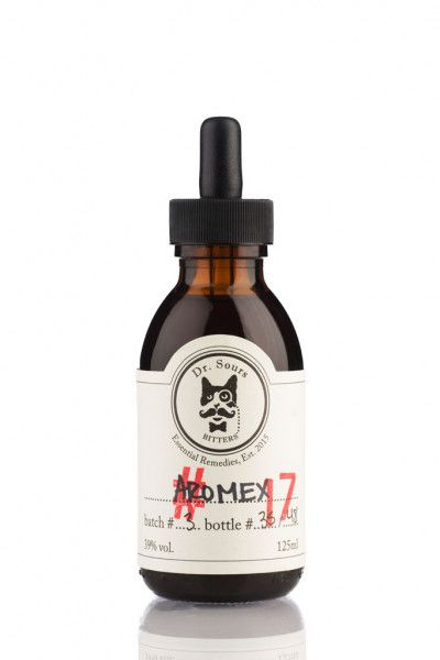 Mexican Cocktail Bitters Dr. Sours #17 - Aromex 39% - Classic Aromatic Bitter - 0,125l