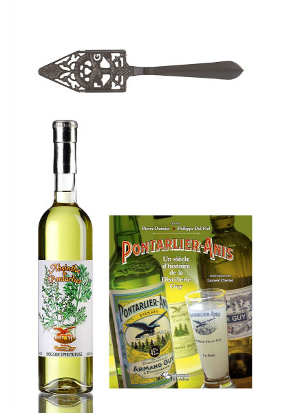 Set Absinth Guy 0,5l & Pontarlier Anis Buch & Guy Löffel