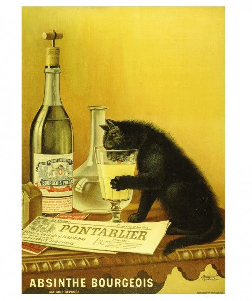 Absinth Poster - Bourgeois